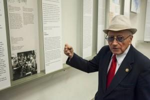 Philip Bialowitz in der Gedenkstätte Haus der Wannsee-Konferenz (Besuch beim Tag der Mahnung 2013, Berliner VVN-BdA)